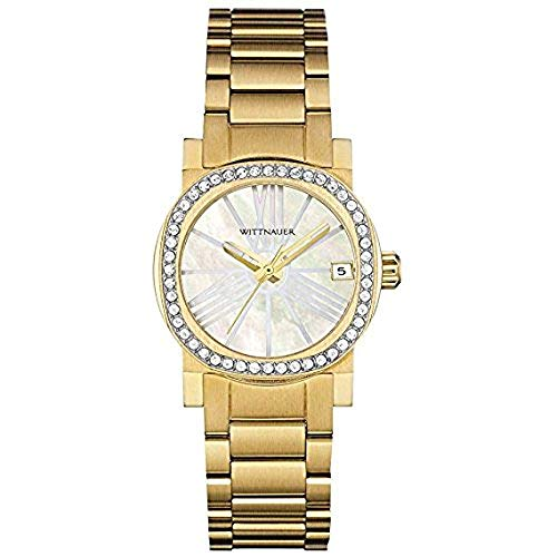 Wittnauer Gold Tone Crystal Bezel Watch WN4002