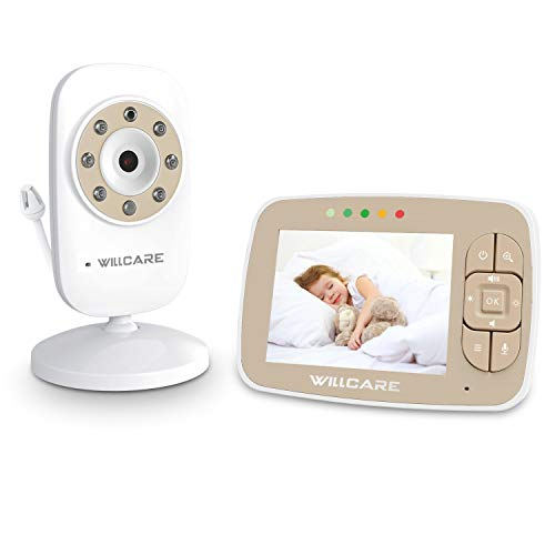 Baby Monitor -Video Baby Monitor with 3.5' LCD Screen, Digital Camera, Infrared Night Vision, Two-Way Talk Back, Lullabies, Temperature Monitoring, Long Range Baby Monitors with Camera and Audio