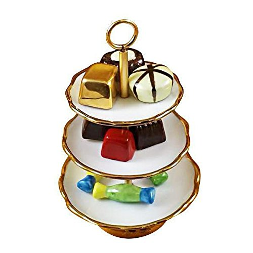 SWEET TRAY WITH NINE REMOVABLE CANDIES - LIMOGES BOX AUTHENTIC PORCELAIN FIGURINE FROM (Limoges Candy)