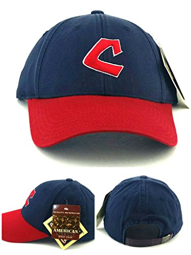 Cleveland Indians Star - American Needle Cleveland Indians New Retro Destructured Blue Red Blue Era Strapback Hat Cap