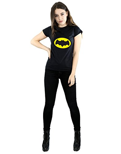 shirt Cult Absolute Batman Dc Noir Tv T Series Logo Comics Femme CRwqzxTOC