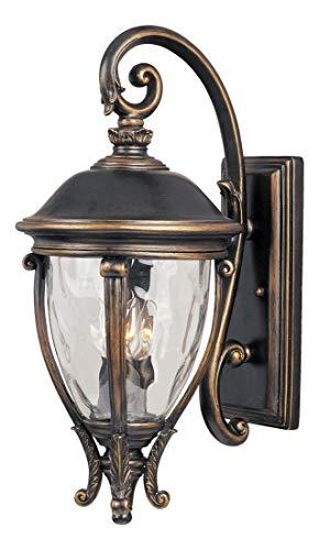 3 Camden Vx Light - Three Light Golden Bronze Water Glass Glass Wall Lantern