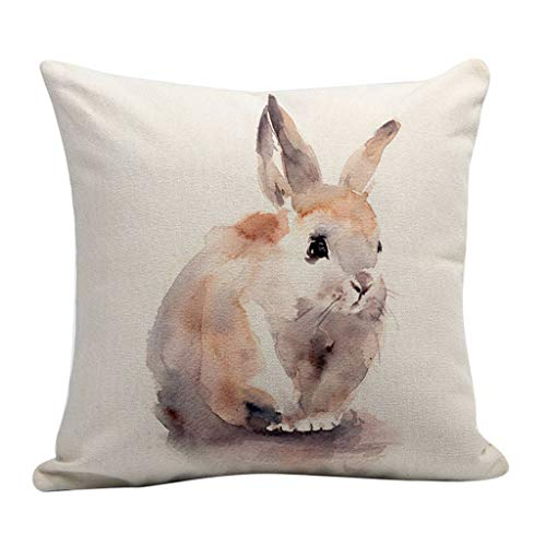 kaifongfu Happy Easter Throw Pillow Cover Easter Eggs Pillow Case Decorative Throw Pillow Case Set of 4 Cushion Cover -