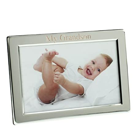 7624174aa7ce Image Unavailable. Image not available for. Colour  Silver Plated My  Grandson Photo Frame ...