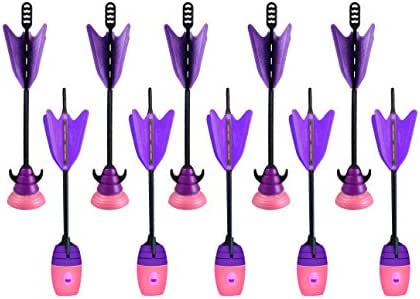 Zing 10 Units Extra Suction Cup Arrows and Whistle Arrows Refill Pink and Purple