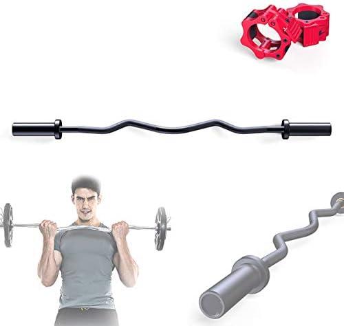 オリンピックEZカールバーウェイトバー、スーパーEZカールバー-120 cm(50 mm)重量挙げ、ボディビルディング、フィットネス、ウェイトトレーニング用