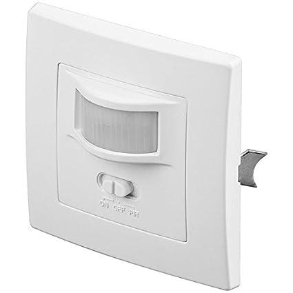 Goobay 96005 Alámbrico Pared Blanco Detector de Movimiento - Sensor de Movimiento (Alámbrico, 220