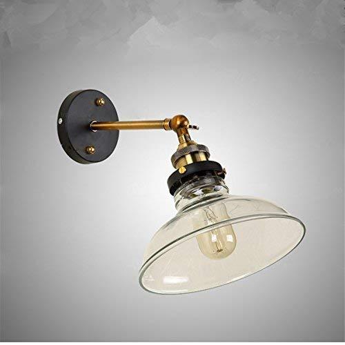 7 opinioni per SISVIV Applique Vintage Interno Industriale Lampada da Parete in Vetro Cucina