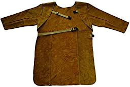 ZaoProteks ZP4003 Long Sleeve Cowhide Leather Heat Resistant Welding Apron, Work Apron, Work Apparel --- Great for Welding , Barbecue , Grinding , Woodturning and so on