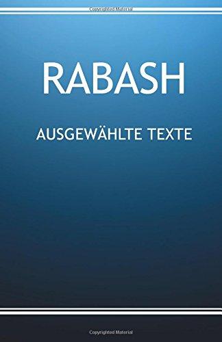 RABASH - Ausgewählte Texte (Englisch) Taschenbuch – 14. August 2017 Baruch Ashlag 1974570142 Religion