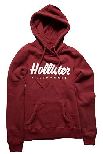 Hollister Women's Hoodie Sweatshirt (Burgundy Pullover 1812, XS) from Hollister