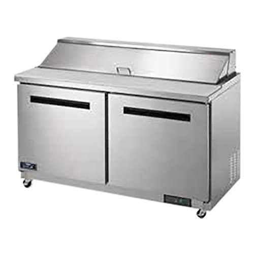 2 Door Refrigerated Sandwich Table - Arctic Air AST60R 61 1/4