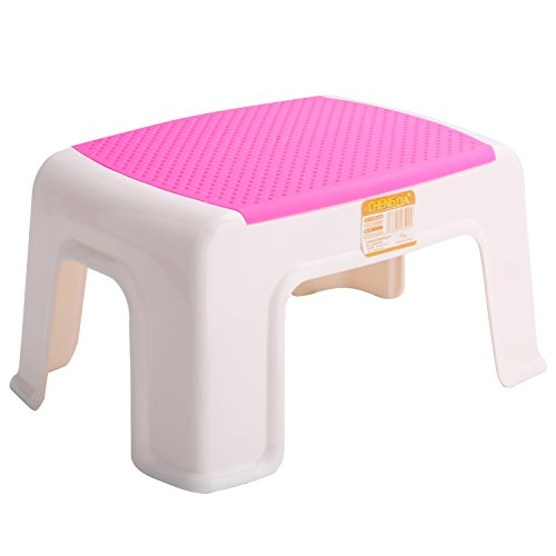 Kleanner Plastic Small Step Stool Children's Stool, Anti-Slip Foot Perfect For Toddler Toilet Training Or Kids Bathroom For Brushing Teeth Or Washing Hands, 12