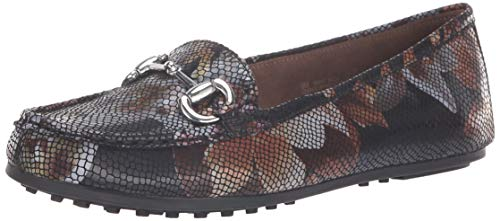 Aerosoles A2 Women's BAC Driving Style Loafer, Black Floral, 6.5 M US