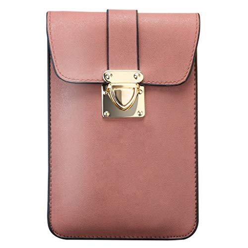 HOSOME Women Purse Wallet Fashion Leather Shoulder Bag Small Crossbody Tote Pink