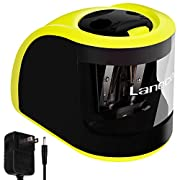 Amazon Lightning Deal 91% claimed: Laneco Handheld Electric Pencil Sharpener, Adapters or Battery Operated, Heavy Duty, Including Replacement Blades, Great for Classroom, Office, School, Kids, Teachers, Artists and Adults