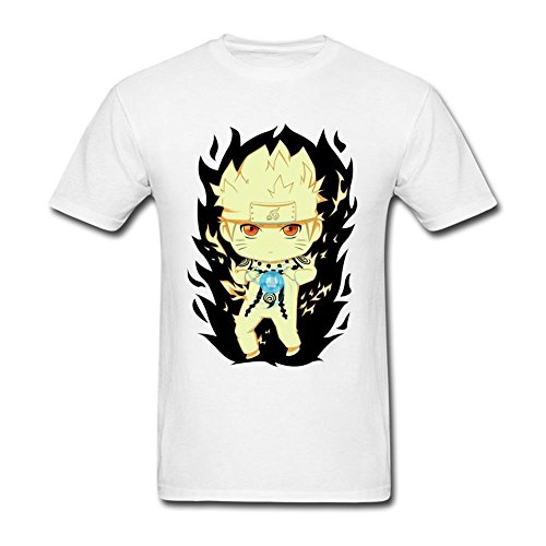 JUDIAN Chibi Naruto Rikudou One Tail T Shirt for Men