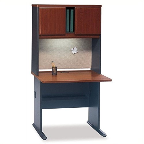 Bush Business Series A Office Cubicle in Hansen Cherry