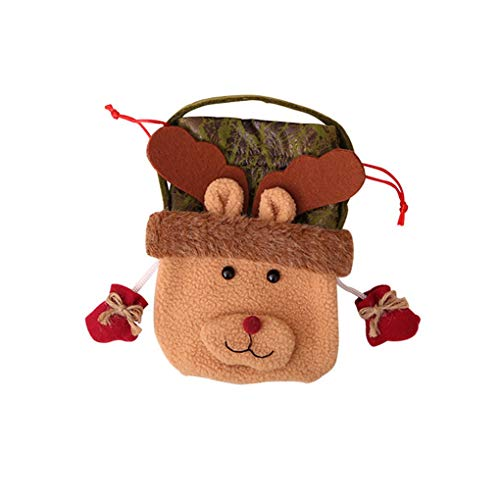 Drawstring Pouches Christmas - Christmas Santa Claus Snowman Reindeer Drawstring Pouch Xmas Candy Gift Bag Tree Decoration - Holders Stockings Stockings Gift Holders Drawstring Christmas Xmas