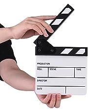Compact Size Acrylic Clapboard Dry Erase TV Film Movie Director Cut Action Scene Clapper Board Slate