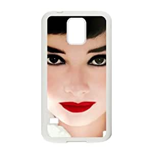 Audrey Hepburn Customized Cover Case with Hard Shell Protection for SamSung Galaxy S5 I9600 Case lxa#326081