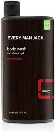 Every Man Jack Body Wash and Shower Gel Cedarwood, 16.9 Ounce