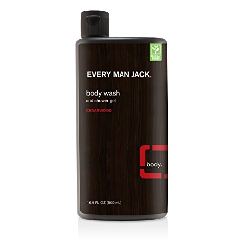 Every Man Jack Body Wash and Shower Gel Cedarwood, 16.9 Ounce - Shower Wash Natural