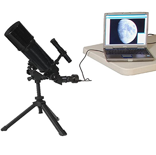 Blue AstroVenture 80mm Refractor Telescope with 3MP Digital USB Camera