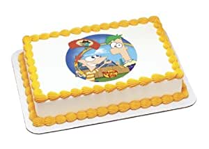 Edible Cake Images Storage : Amazon.com: Phineas & Ferb Agent P Arrives Personalized ...