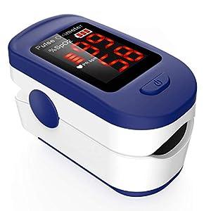 Oxímetro de Pulso, AGPTEK Pulsioxímetro de Dedo Digital con Pantalla LED para Medición de SpO2, Lectura Instantánea… 41clN0V8LpL