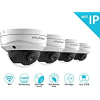 LaView 1080P Wifi Wirless Security Cameras - 4 Pack - HD Indoor/Outdoor Wifi Dome IP Cameras with 100Ft Night Vision, Easy Remote Access, On-Board Storage Slot