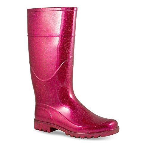 Pictures of Twisted Women's Drizzy Jelly Rain Boots- Fuchsia 8 M US 1