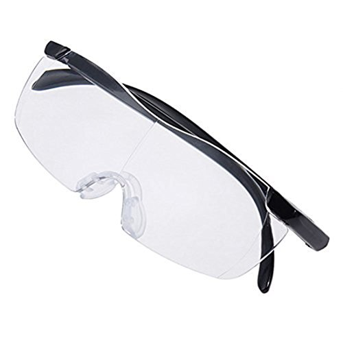 3Pcs Pro Big Vision Plastic Glasses 1.6X Magnifying Presbyopic Eyewear Makes Everything Bigger and Clearer