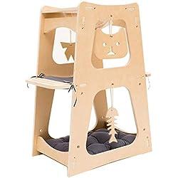 Productos para Animales Estructura De Gato Árbol De Gato Juguete For Mascotas Cápsula Espacial D-I-Y Hechos En Casa Casas y Condominios (Color : Wood Color, Size : 37 * 58 * 82cm)