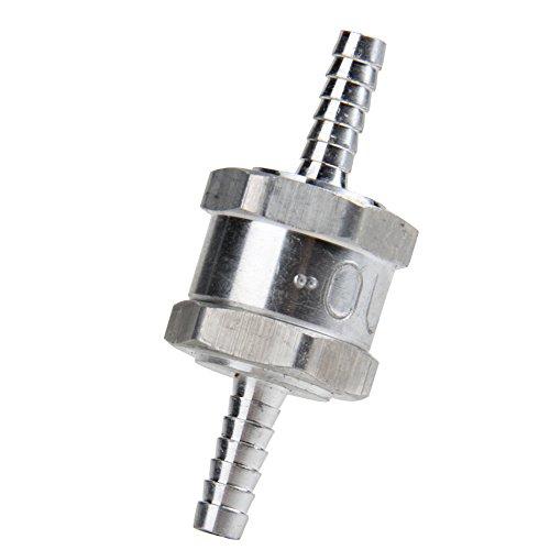 "Bang4buck 6 MM 1/4"" Aluminium One Way Fuel Non-Return Check Valve Petrol Diesel Oil Water"