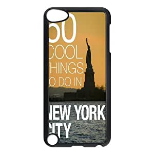 Ipod Touch 5 Cases 50 Cool Things to do in New York City, - [Black] Jumphigh