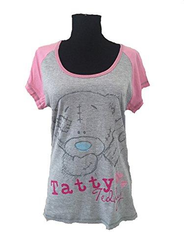 Me to You Tatty Teddy de manga corta pijama traje de neopreno para mujer Pink Bow