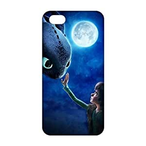 Moon night fish and boy 3D For Iphone 5C Phone Case Cover