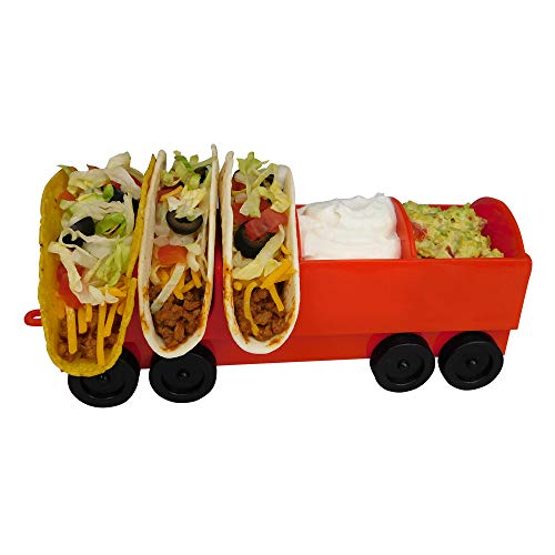 The Taco Train Party Holder Stand - Holds 3 Additional Tacos and Condiments - Kids Parties or Taco Tuesdays - By Fyve Global (Add-On Car) by Fyve Global