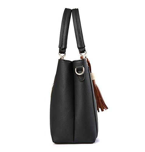 Señoras Europeas Y Americanas Estilo Bolso De Moda Salvaje Bandolera Messenger Bag Red1