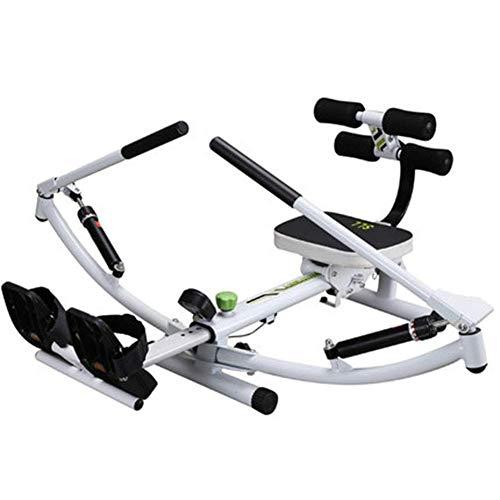ZJZ Home Roeimachine Roeimachines voor thuisgebruik opvouwbaar, Indoor Rowing Machine, 12 Niveau Binnen, met LED-monitor…