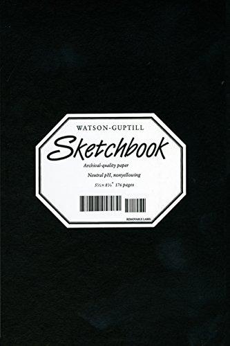 Sketchbook-Black Blank Book-5 1/2 x 8 1/4