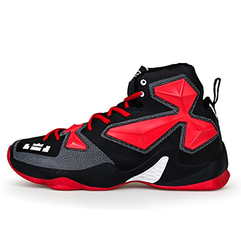 Shoes Town 66 No Shock Absorption Women's Couple Shoes Men's Basketball Red Sneaker Running Black AqCnw81Cx