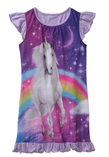 Flutter Sleeve Graphic Unicorn Pajama