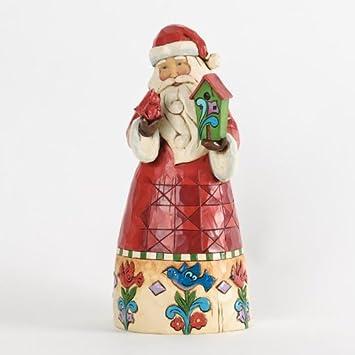 Jim Shore for Enesco Heartwood Creek Santa with Birdhouse Figurine, 9-Inch