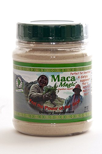 Maca Magic: 100% Organic Raw Powder (7.1 oz) - Peruvian Premium Grade Superfood - Certified Organic - Certified Kosher - Vegan - Gluten Free - Perfect for Breakfast, Smoothies, Baking & Ice Cream