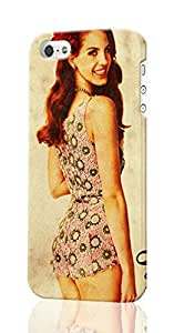 SUUER Lana Del Rey iPhone 5 5S Case , Designer Personalized Custom Plastic Hard CASE for iPhone 5 5S Durable New Style Rough Skin 3D Case Cover