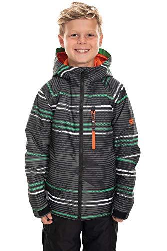 686 Boy's Jinx Insulated Jacket - Waterproof Ski/Snowboard Winter Coat, Black Stripe, X-Large (686 Boys Snowboard Jacket)