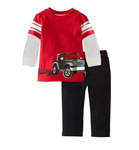 Kids Toddler Boys Cotton Trouser Top 2PCS Sets Outfits Clothing Sets Pajamas(Car, - Boys Pajamas 4 Set Size