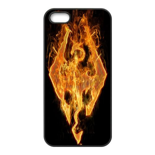 Price comparison product image iPhone 5 & iPhone 5s SE Cell Phone Case Covers Black Game Skyrim WW2974444